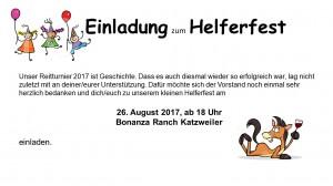 Einladung Helferfest 2017