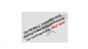 VEREINSAUSFLUG 2018 FÄLLT AUS